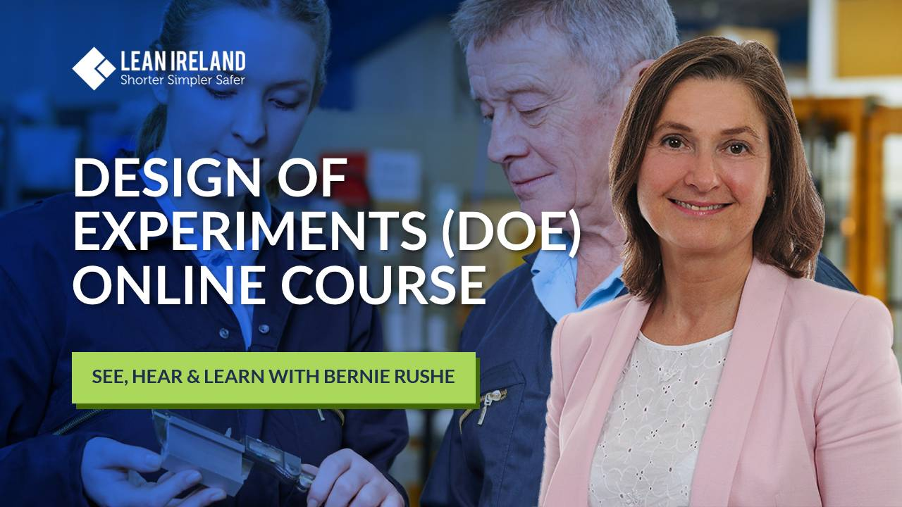 lean six sigma Design of Experiments DOE online course