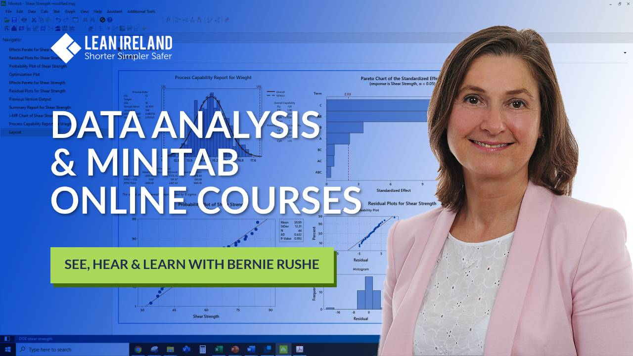 Data analysis with Minitab online courses